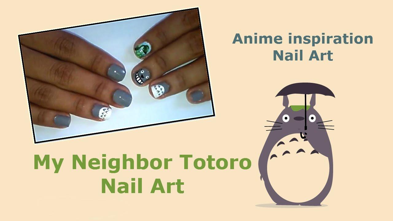 My neighbor Totoro Nail Art   Indy 😻 - YouTube