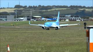 (HD) Bristol Airport.(BRS/EGGD)UK. Fathers Day & The longest Day. Sun 21st June 2015.