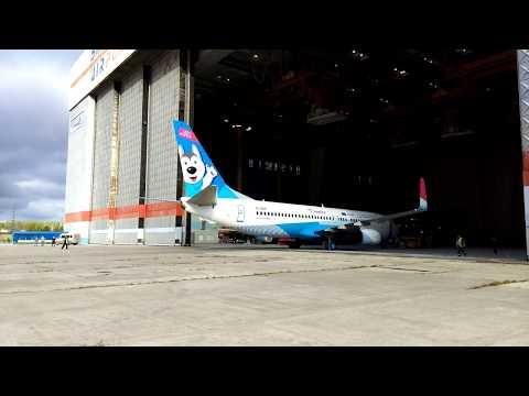 """Выкатка 3-го ВС Boeing 737-800 Окрашенного для АК """"NordStar"""" специально к  Универсиаде 2019 часть 1"""