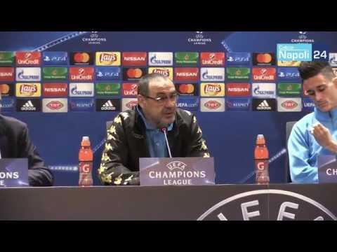 Besiktas-Napoli, la conferenza stampa di Maurizio Sarri e José Callejon