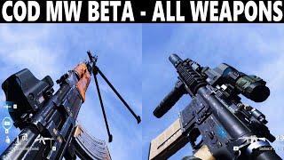 COD MODERN WARFARE  - ALL WEAPONS [ MW BETA]