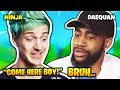 NINJA DOES DAEQUAN IMPRESSION | Fortnite Daily Funny Moments Ep.182