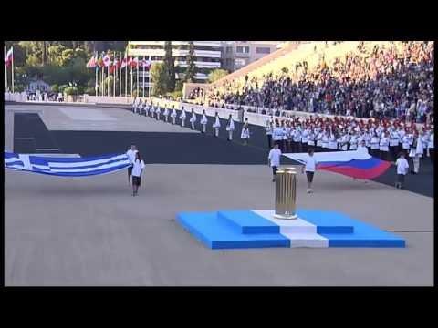 В Афинах состоялась церемония передачи огня XXII зимних Олимпийских игр
