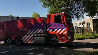 Brandweer Nunspeet P1 onderweg met TS + WT-G + WTS-500 naar (zeer grote brand) (GRIP 1) Oldebroek