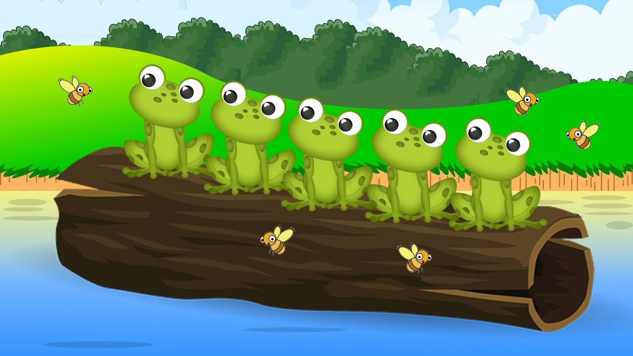 5 Little Speckled Frogs Nursery Rhyme Song for Toddlers ...