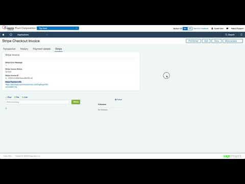 Stripe to Sage Intacct Integration - Invoice Payment URL
