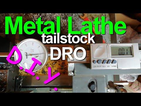 Slealey SM27 Metal Lathe (AKA Warco & Clarke) DIY homemadeTailstock DRO