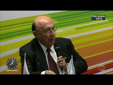MDB lança pré-candidatura de Henrique Meirelles à Presidência | SBT Brasil (22/05/18)