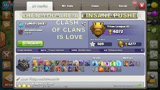 NEW NO. 1 PLAYER OF COC IS HERE | PUSHERS BE LIKE 412 ATTACKS WON IN A SEASON | CLASH OF CLANS