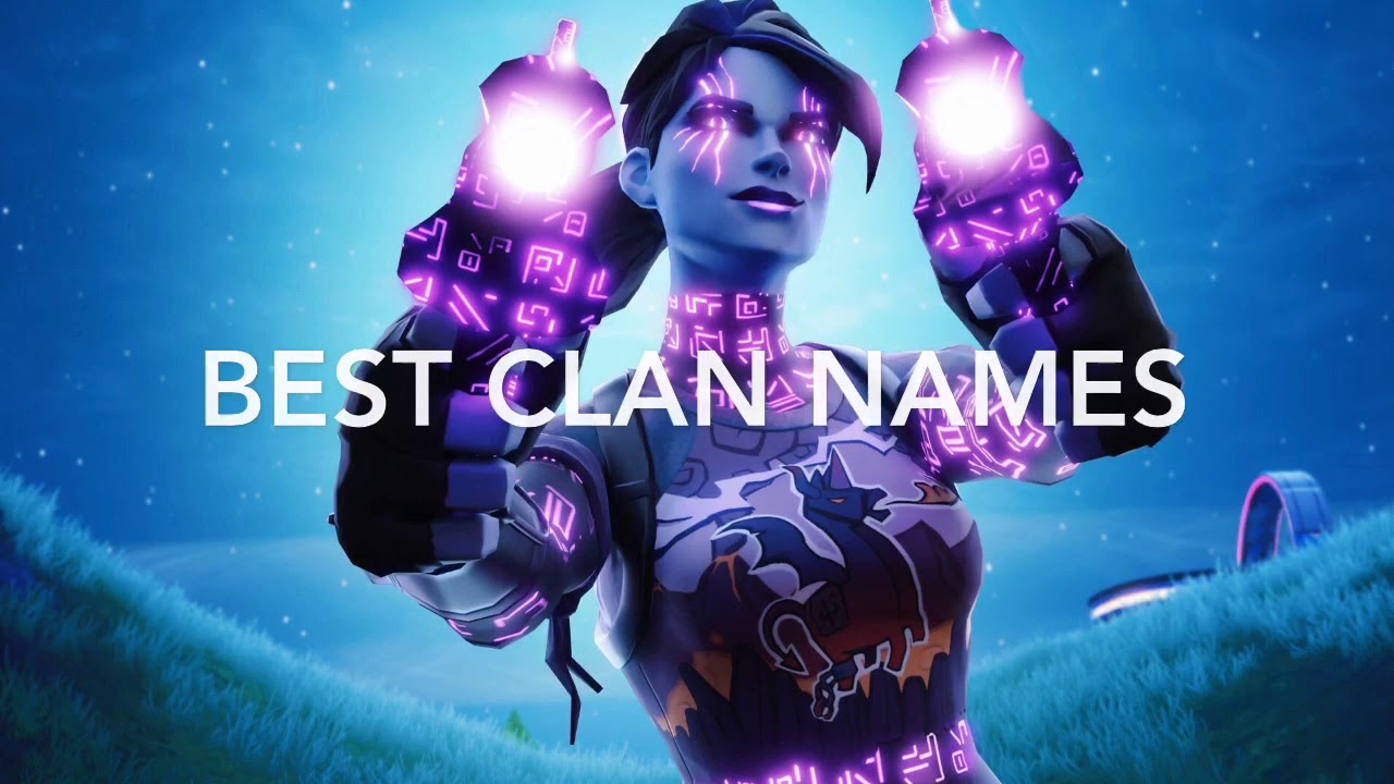10 Best Cool/Sweaty CLAN Names For Youtube/Fortnite - YouTube