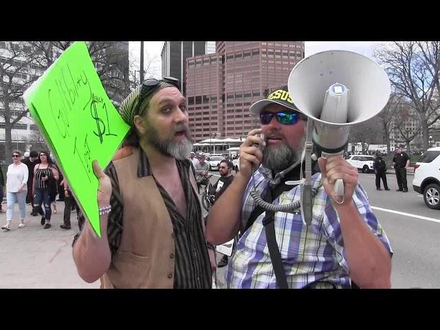 420 Pot/Weed Festival Street Preaching - Denver, CO - Kerrigan Skelly