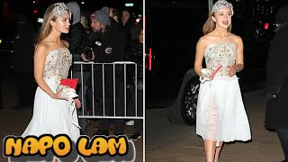Lady Amelia Windsor sparkles at Dolce & Gabbana's New York show