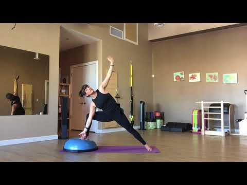 Pilates Bosu ball Flow with Trainer Fiona Hermanutz
