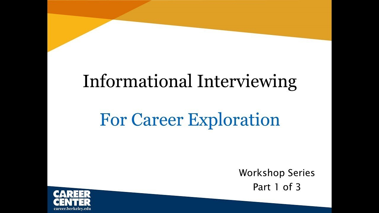 Informational Interviewing | Career Center