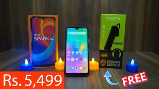 Tecno Spark Go Unboxing, Price Rs. 5,499 with Oraimo Moveable Earpiece worth Rs. 799