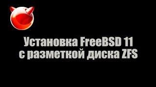 установка FreeBSD 11 с разметкой диска ZFS