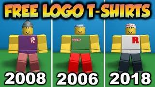Obter todas as 3 camisas clássicas do logotipo de Roblox para livre