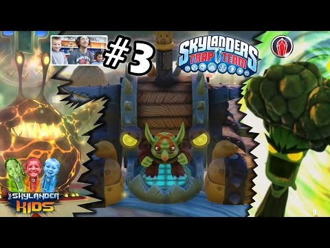Lets Play Skylanders Trap Team: Chapter 3 - Chompy Mountain w/ Chompy Mage, Broccoli Guy ...