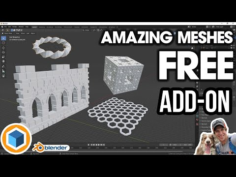 AMAZING MESHES in Blender with the FREE Extra Objects Add-On! ALL TOOLS EXPLAINED! from YouTube · Duration:  11 minutes 58 seconds