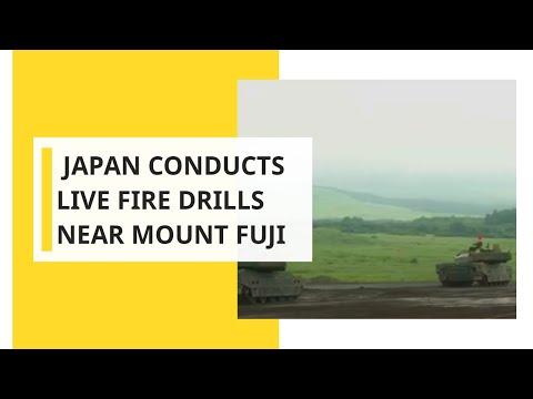 Japan Conducts Live Fire Drills Near Mount Fuji