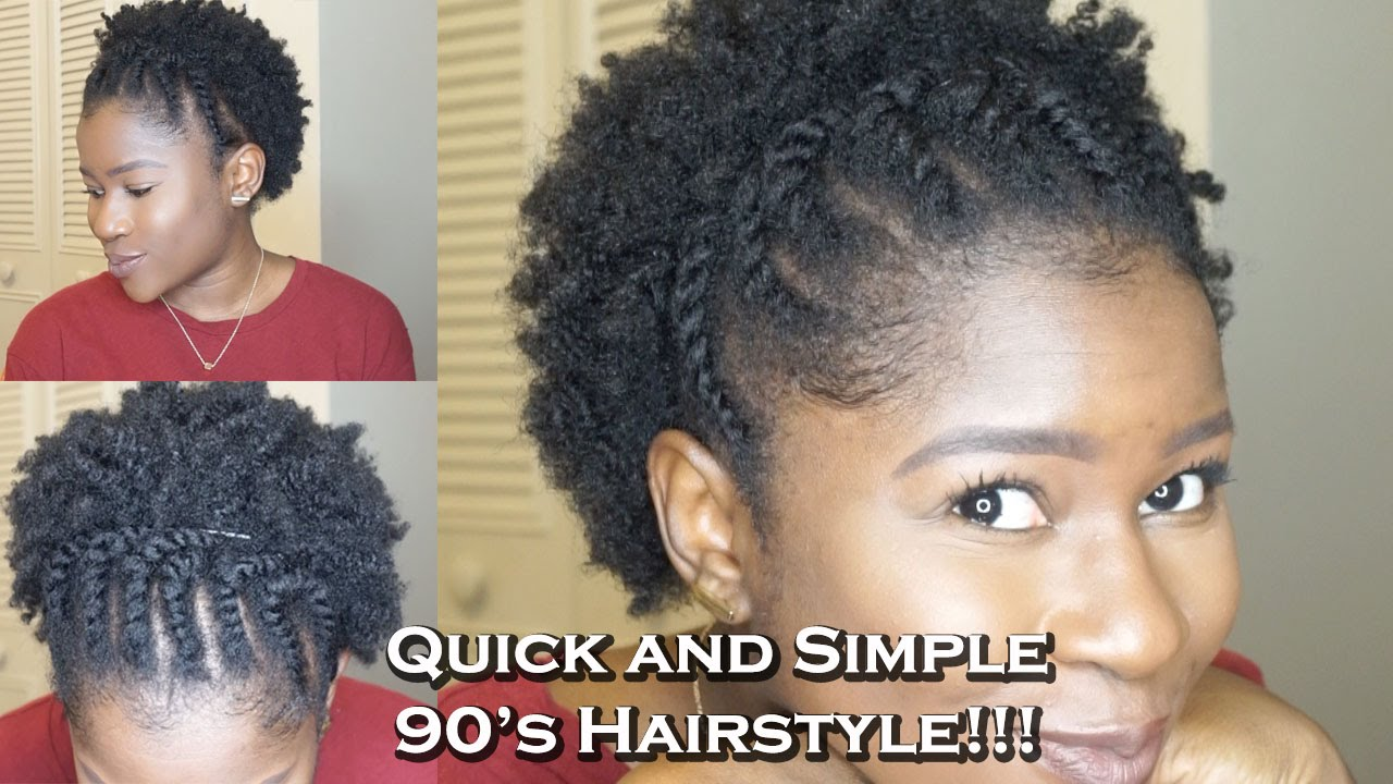 quick and simple 90s hairstyle