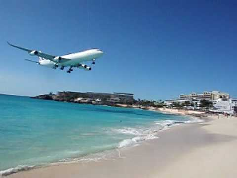 Philipsburg, St. Maarten, Airport.AVI