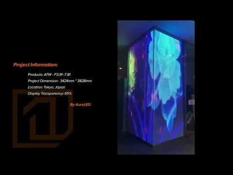 Transparent LED screen display project in Tokyo, Japan