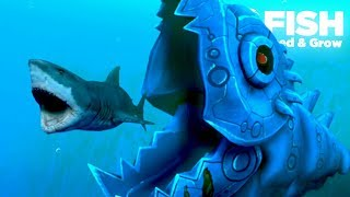 One of TheGamingBeaver's most viewed videos: NEW MECHA KILLER FISH!!! - Fish Feed Grow | Ep 22
