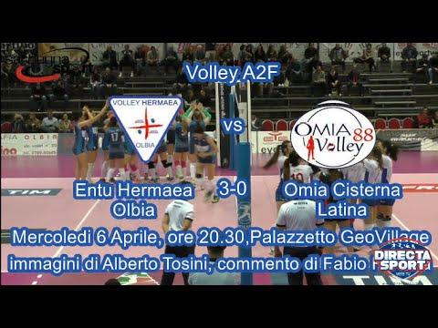 Volley A2F – Entu Hermaea Olbia – Omia Cisterna Latina (3-0)