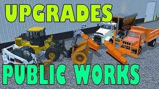 Farming Simulator 17   Public Work Shop Upgrades   New Trucks, Trailer Snow Plows & Snow Blowers