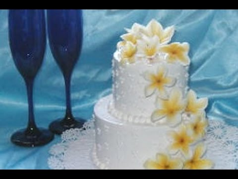 Hawaiian Wedding Cake With Orchids   YouTube Hawaiian Wedding Cake With Orchids