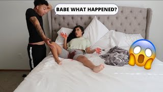 Period Prank on boyfriend *He passed out*