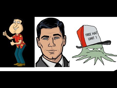 The Clarey Test on Sterling Archer, Glenn Quagmire, Early Cuyler