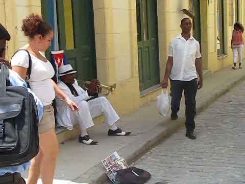 Trumpet Player Downtown Havana Cuba April 22nd 2016