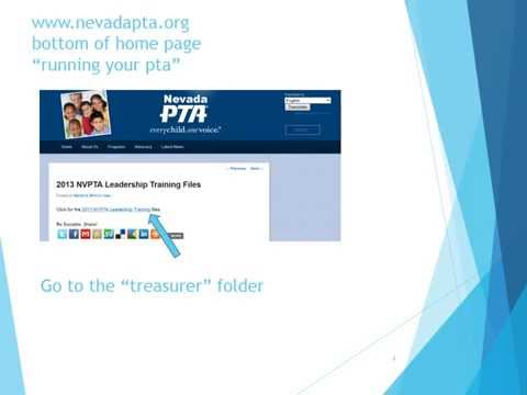 2014 Nevada PTA Treasurers Training