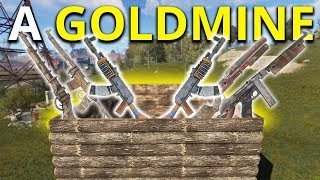 THIS WOODEN BASE WAS AN ABSOLUTE LOOT GOLDMINE! - Rust Solo Survival Gameplay 2/7