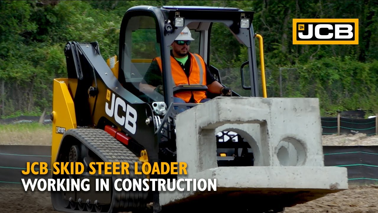 JCB Compact Tracked Loader Working in Construction