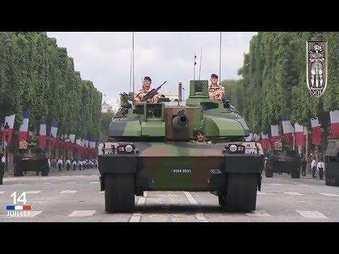 Défilé du char Leclerc le 14 juillet 2017 à Paris
