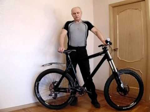 (Видео №32)На сколько поменялись параметры велосипеда , при установке длиноходной вилки .