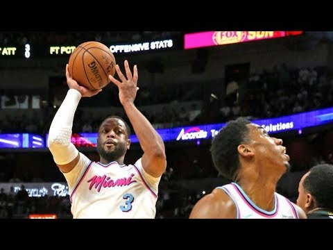 Dwyane Wade Returns to Miami! Bam Snatches Layup! 2017-18 Season