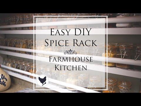 Easy DIY Spice Rack | Farmhouse Kitchen | A Good Life Farm