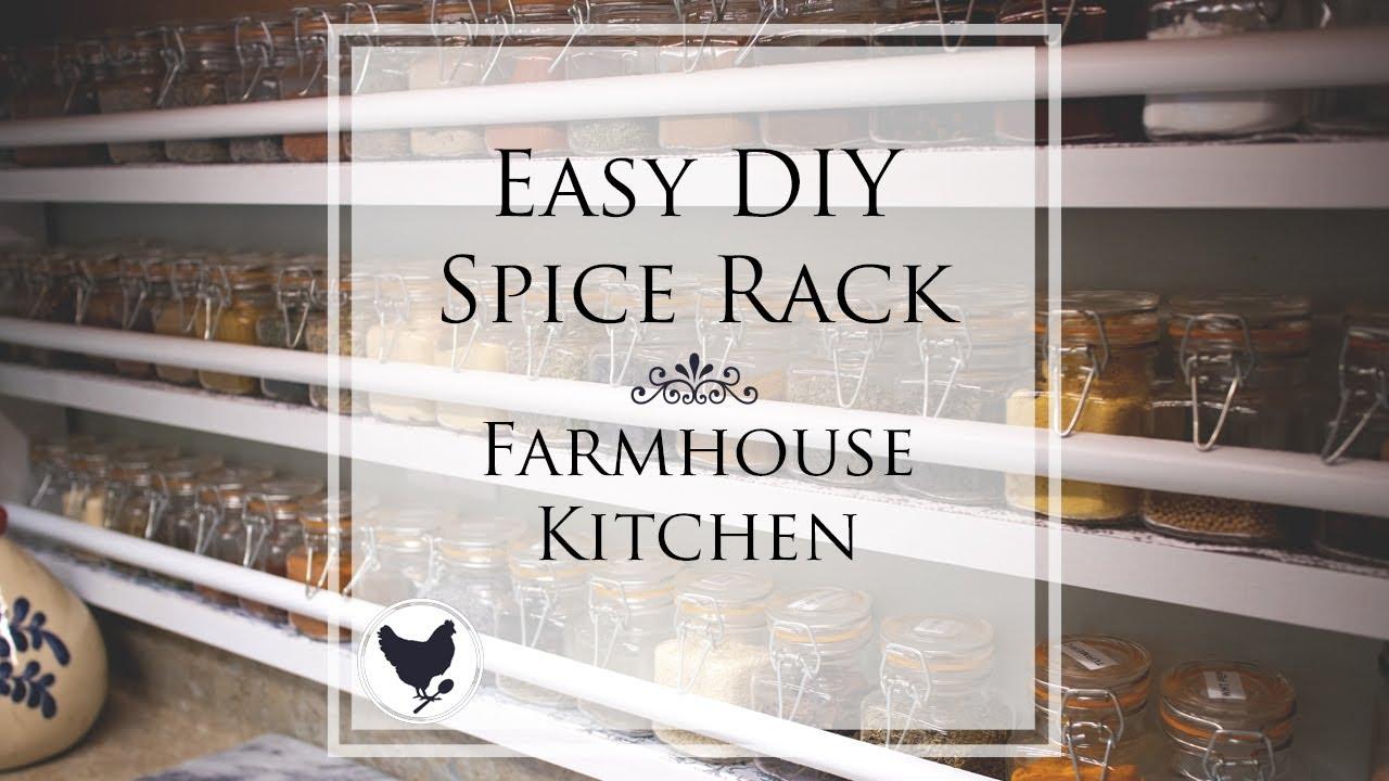 easy diy spice rack farmhouse kitchen
