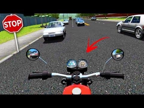 DE MOTO no CORREDOR!!! - City Car Driving