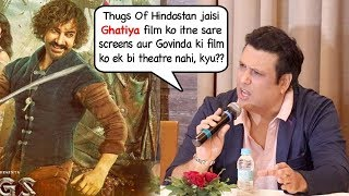 Govinda's Angry* reaction on Thugs of Hindoston spoiling release of his film Rangeela Raja