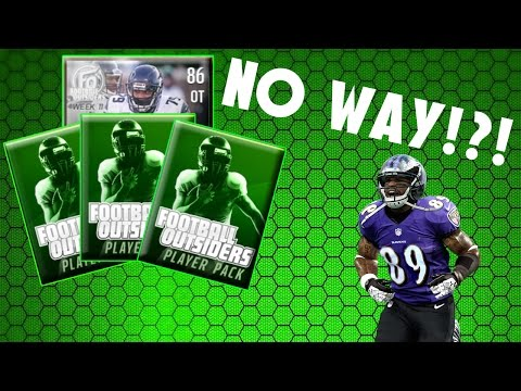 WHAT A SWEET PULL!!! 10 FOOTBALL OUTSIDERS PACK OPENING!! -Madden Mobile 17