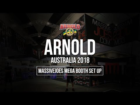 Arnold Sports Festival Australia 2018 | MassiveJoes Mega Booth Set Up