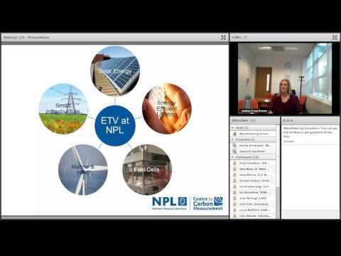 Webinar - Environmental Technology Verification by NPL [MI 14]