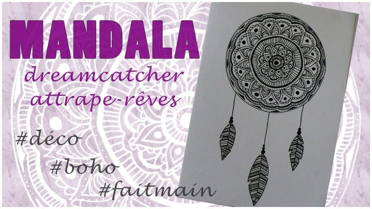 Deco Boho Dessiner Un Mandala Attrape Rêves Dreamcatcher Simple Rapide Et En Français