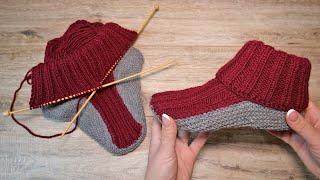Носочки – следочки спицами | Socks - slippers knitting pattern