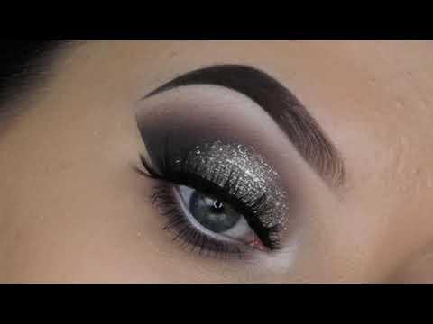 Глиттерный макияж глаз